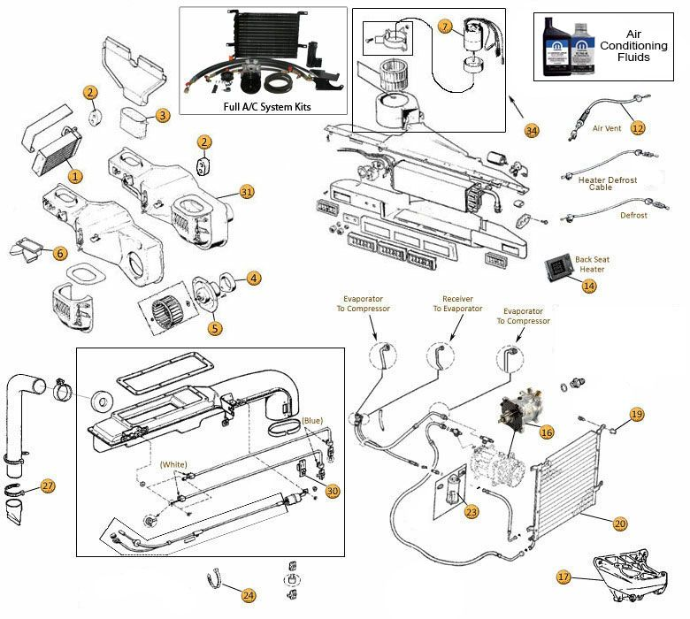 heating & air conditioning parts for wrangler yj | jeep yj ... hvac system wiring diagram 1998 jeep wrangler charging system wiring schematic for jeep wrangler