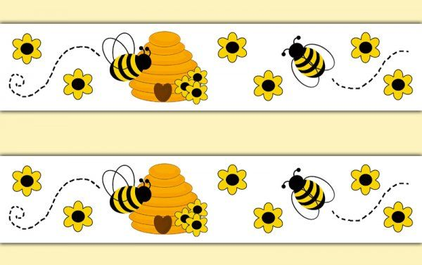 Honey Bumble Bee Hive Wallpaper Border Wall Decals Girl