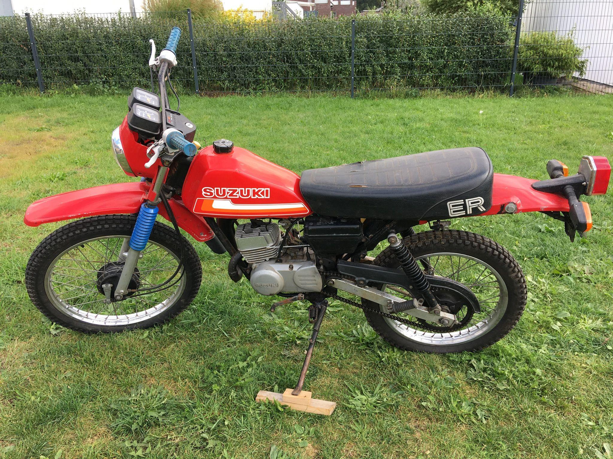 1980 suzuki ts 50 er xk red my bikes motorcycle types. Black Bedroom Furniture Sets. Home Design Ideas