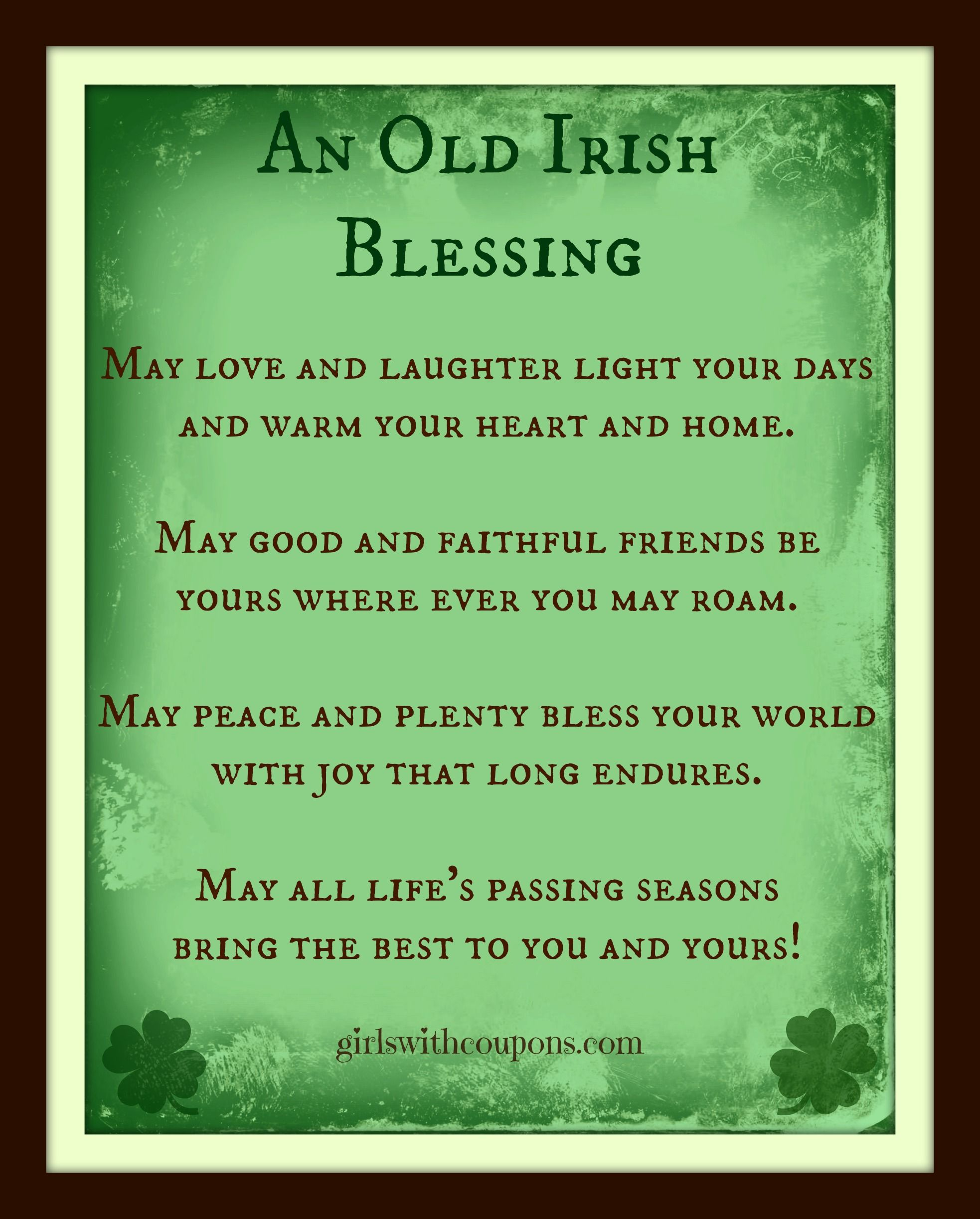 Blessings Quotes: An Old Irish Blessing