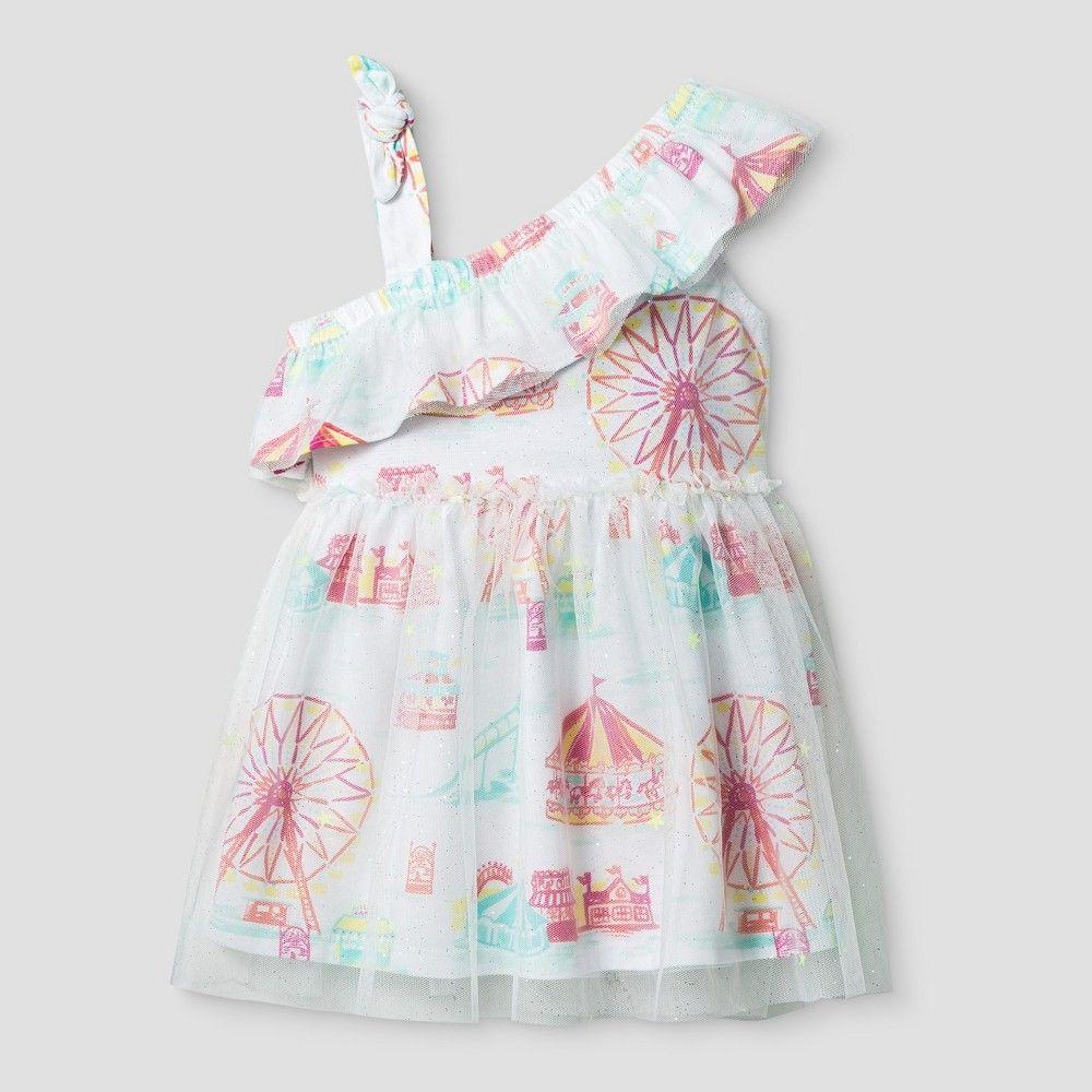 23e55af15b90 Baby Girls' A Line Dress Genuine Kids from OshKosh Fresh White 18M, Infant  Girl's, Size: 18 M