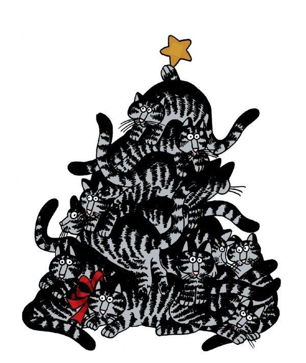kliban cats   Kliban Cats Christmas Tree