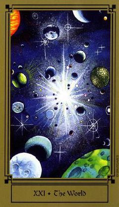I love the idea of this card, though the execution seems just okay. Fantastical Tarot. The World. XXI.
