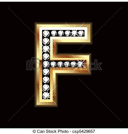 b8830ec1646 Vector - F bling letter - stock illustration, royalty free illustrations,  stock clip art icon, stock clipart icons, logo, line art, EPS picture,  pictures, ...