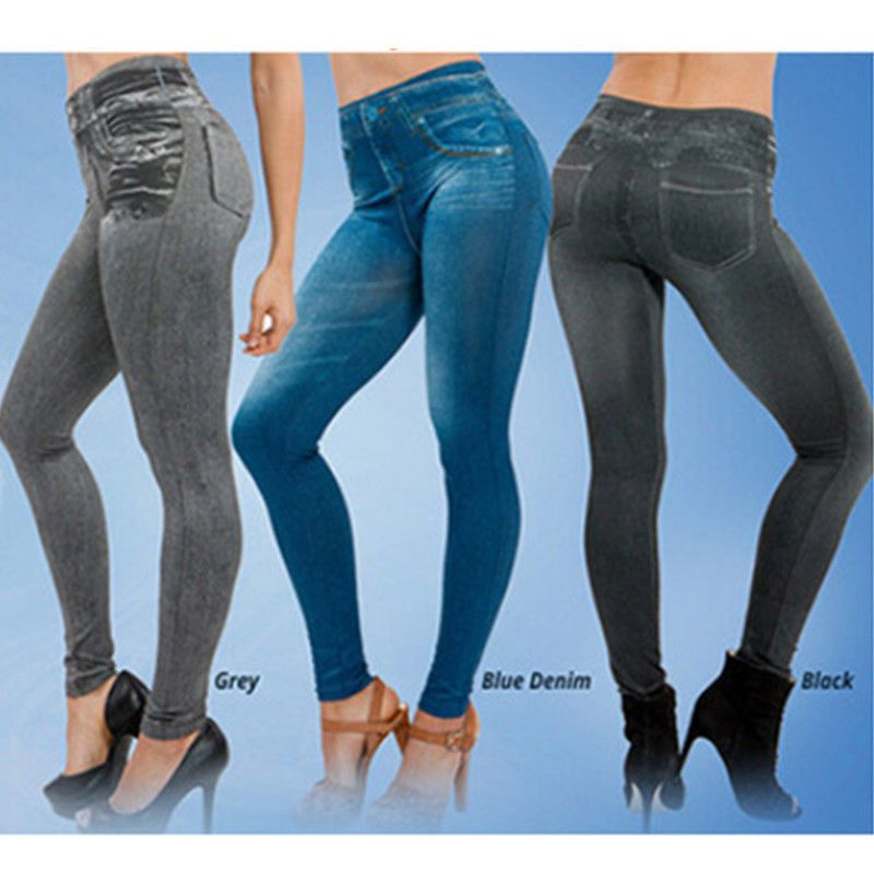cb9010e4e0296 Fashion Slim Jeans Legging Skinny Pants Women Plus Size Tight Jeggings  Trousers