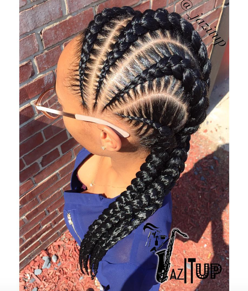 Find This Pin And More On Braidz Nice With Allen Iverson Braids Curly  Short Hair Styles Always Look Adorable On Little Girls