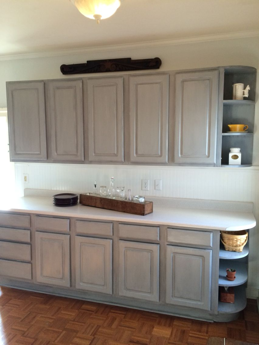 Warm Up The Kitchen With Color New Gray On Old White Laminate