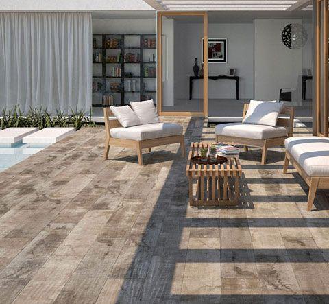 Quand le carrelage imite le parquet en terrasse ! jardin - carrelage terrasse exterieur imitation bois