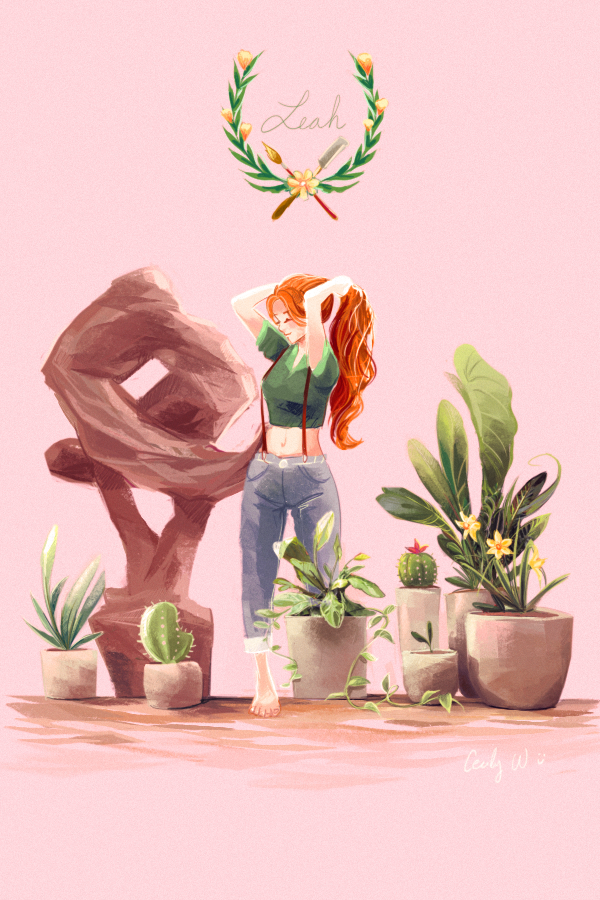 Leah from Stardew Valley by Cecily Wang | drawings | Stardew
