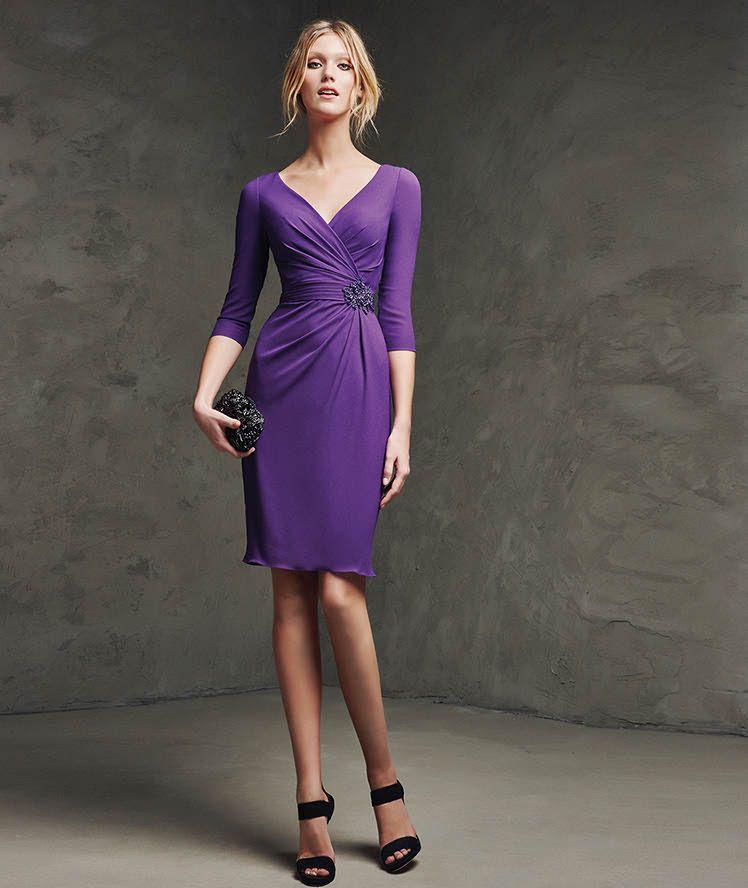 Vestido de georgette y pedreria de fiesta | Vestidos | Pinterest ...