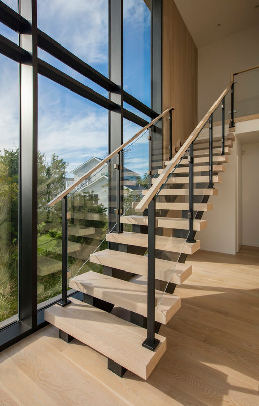 New York Modern Staircase Projects Keuka Studios Stair Railing Design Staircase Railings Modern Stair Railing