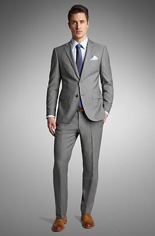 81819ae4c031 Love me some Hugo Suits. | white days- my groom | Suits, Grey suit ...