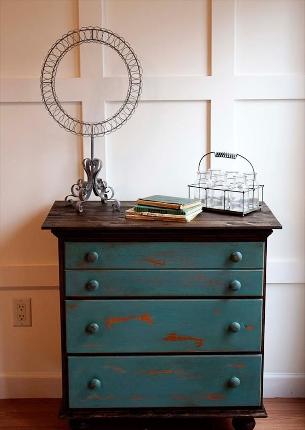 Refurbished Vintage Chest Drawers Pallet Tutorial Pinterest