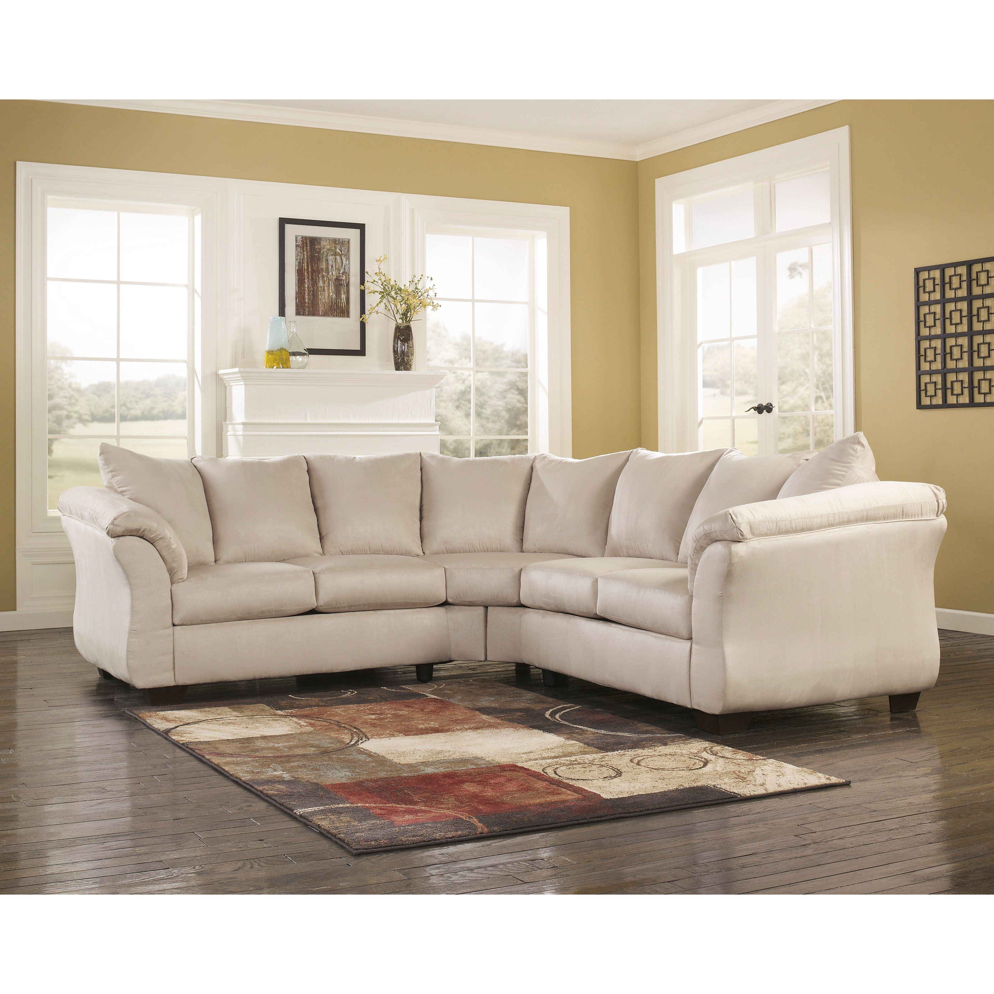 Signature Design By Ashley Darcy Fabric Sectional Ensure Plenty Of Lounging Ashley Furniture Sofas Contemporary Sectional Sofa Fabric Sectional Sofas