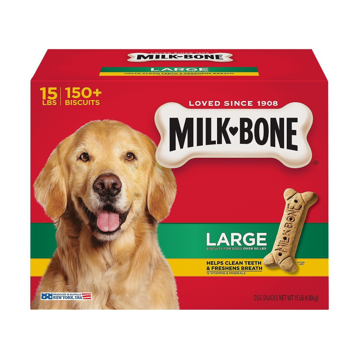 Details about Milk Bone Dog Biscuits Large 15 Lbs Snacks