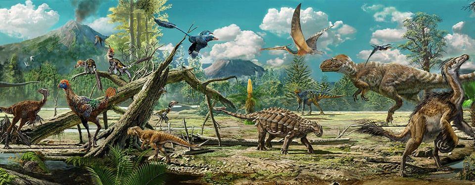 En El Bosque De Liaoning China Bella Paleoilustracion De Zhao Chuang Animales Prehistoricos Dinosaurios Animales Los dinosaurios deben correr en un bosque. en el bosque de liaoning china bella