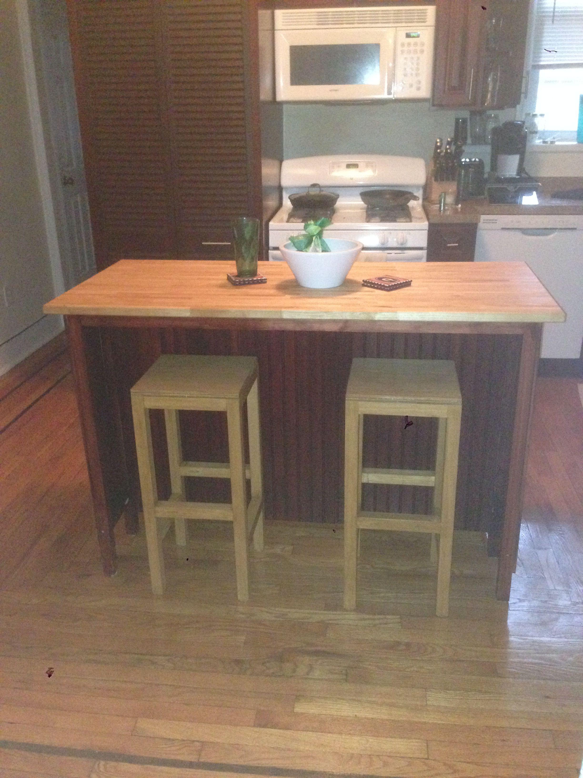 Kitchen Island with Bar Stools