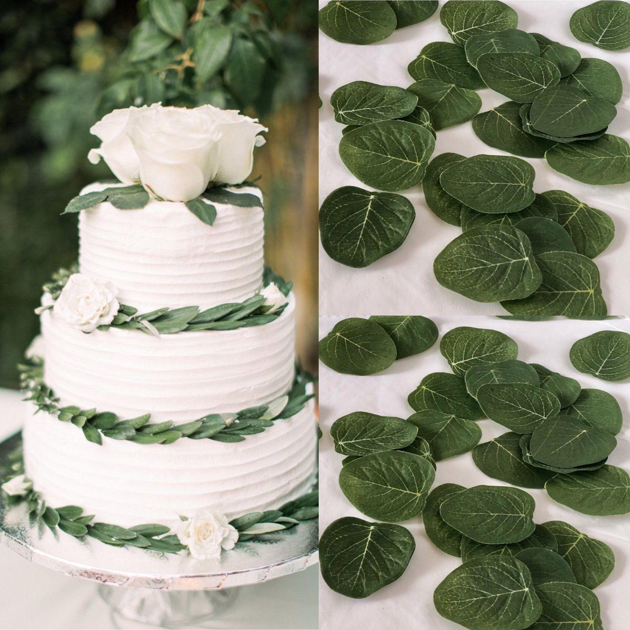 Green Cake Topper Table Runner
