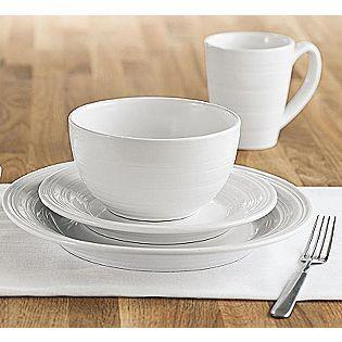 Sandra by Sandra Lee -16pc White Dinnerware Set | sand lee ...