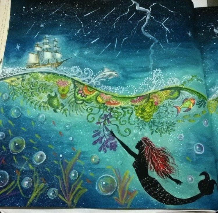 Adult Coloring Books Color Inspiration Art Drawings Lighthouse Johanna Basford Argentina Ribbon Ship