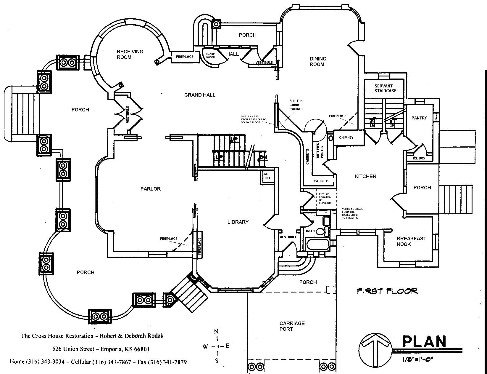 Cross house restoration floor plans and blueprints Building plan printing