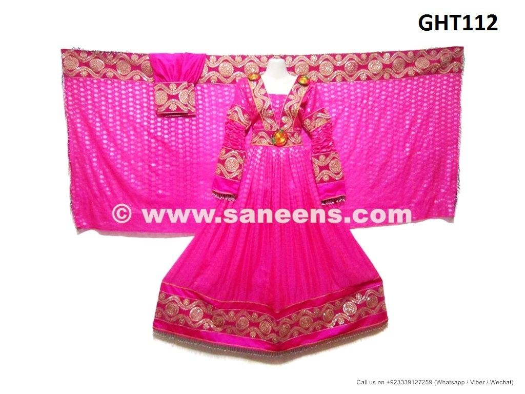 Afghan Fashion Gown In Pink Color Traditional Persian Bridal Clothes ...