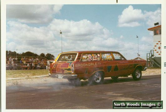 1970s At North Star Speedway Blaine Minnesota Drag Racing Cars