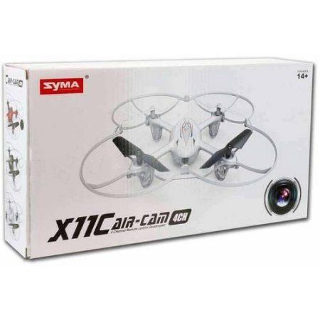 Syma X11C RC Quadcopter with 2MP Carmera and LED Lights, White