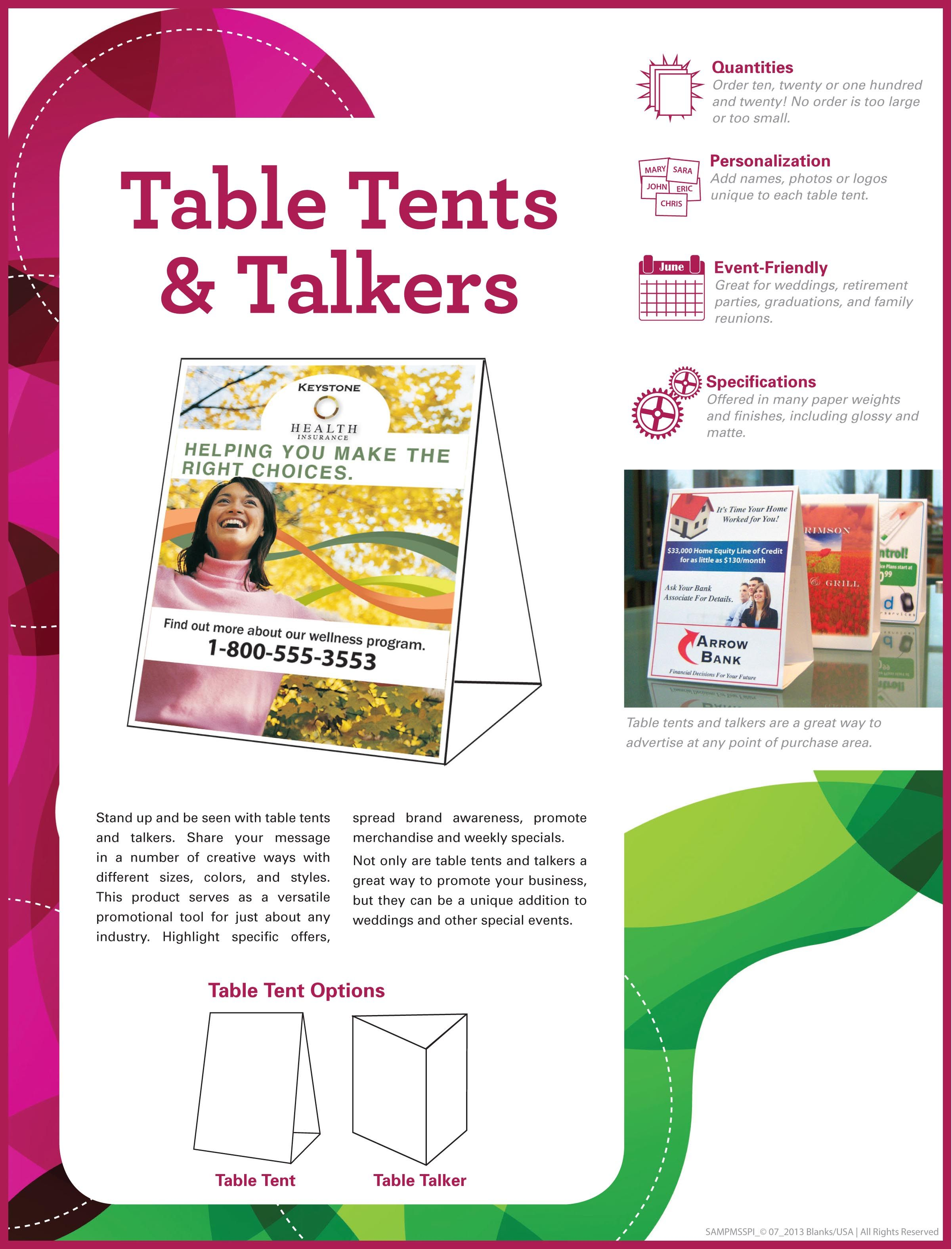 Reach every table through table tent signs