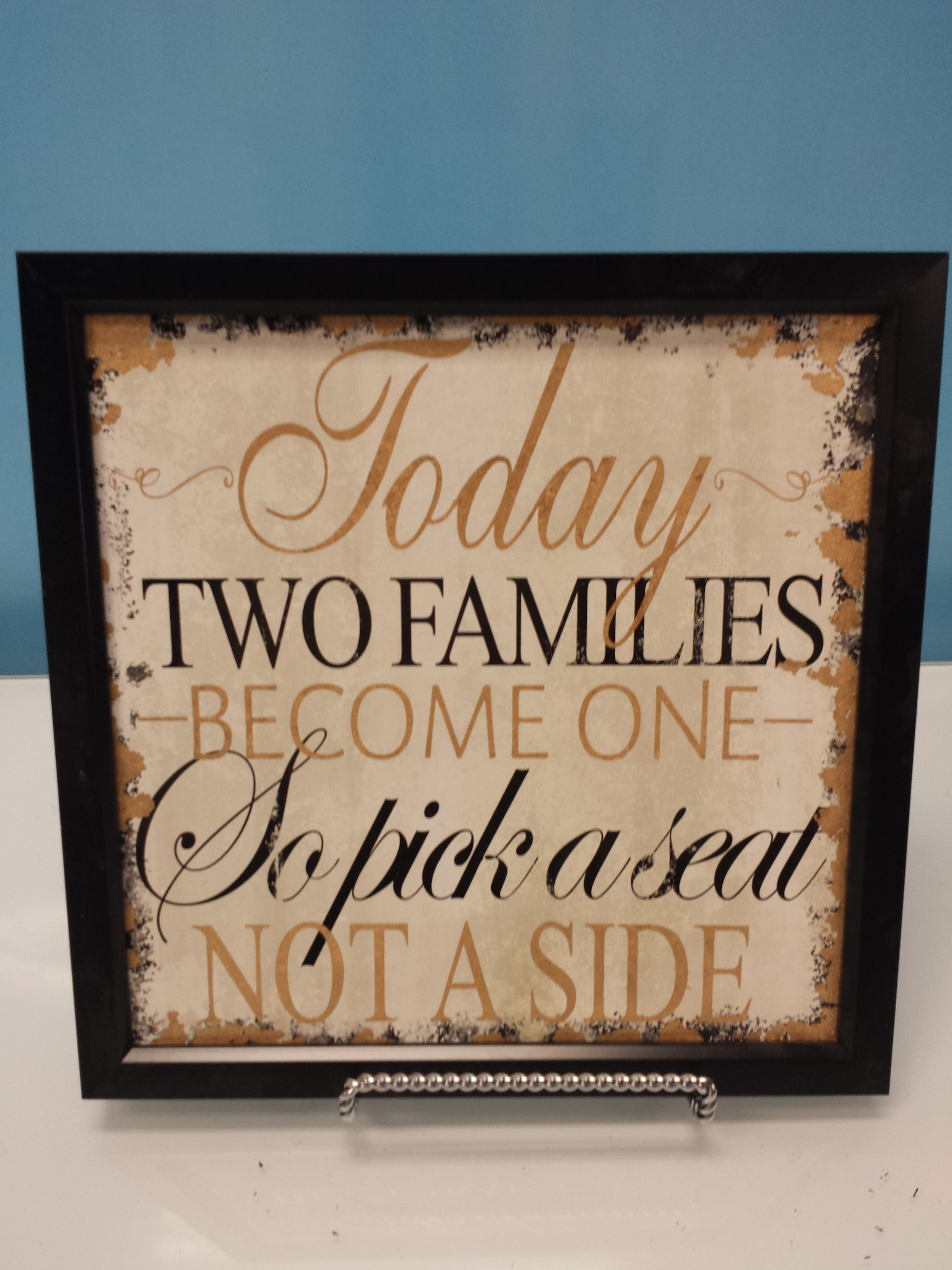 Small Families Sign In Black Frame