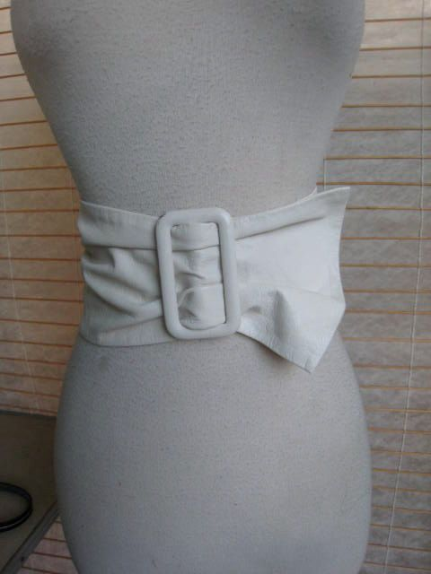 48dd7e4eb Ladies 50s WHITE Leather Extra WIDE CINCH Belt 1950s by Flipsville, $40.00
