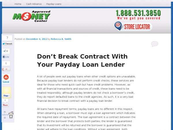 A lot of people seek out payday loans when other credit options - loan agreements between individuals