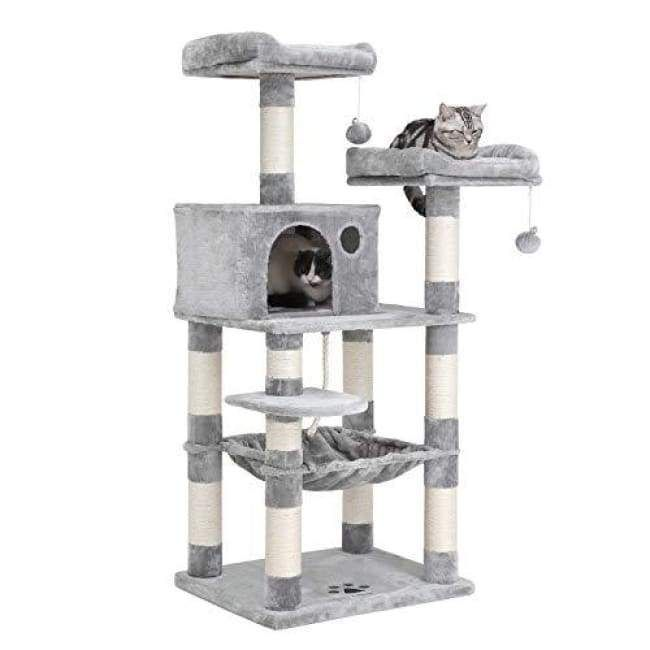 "bff1a6c35c98 SONGMICS 58"" Multi-Level Cat Tree with Sisal-Covered Scratching Posts"