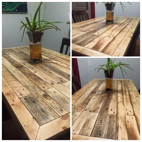 Reclaimed Pallet Wood Dining Room Table By Memoriesofanoldsoul