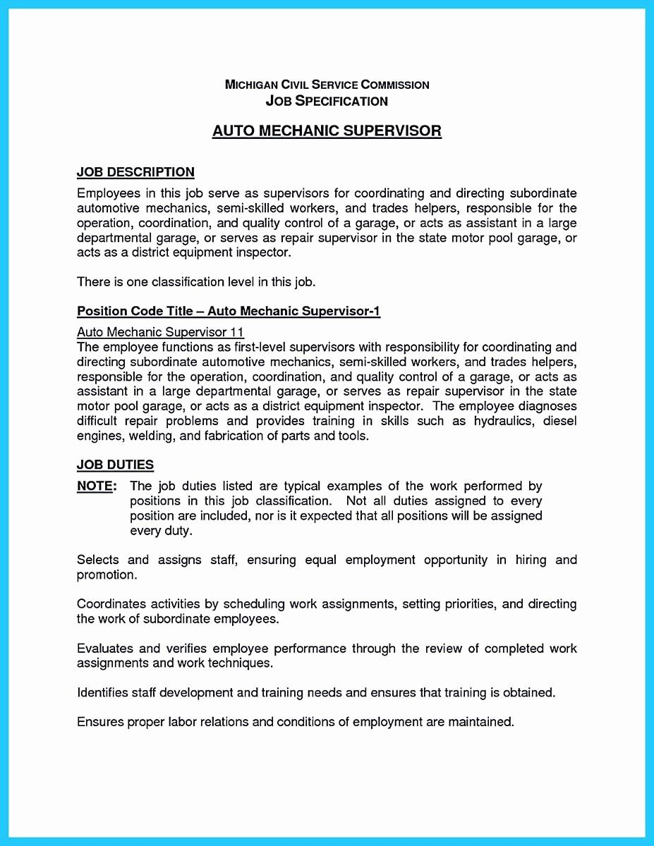 Mechanic Job Description Resume Unique Delivering Your Credentials Effectively O Office Assistant Job Description Job Description Administrative Assistant Jobs