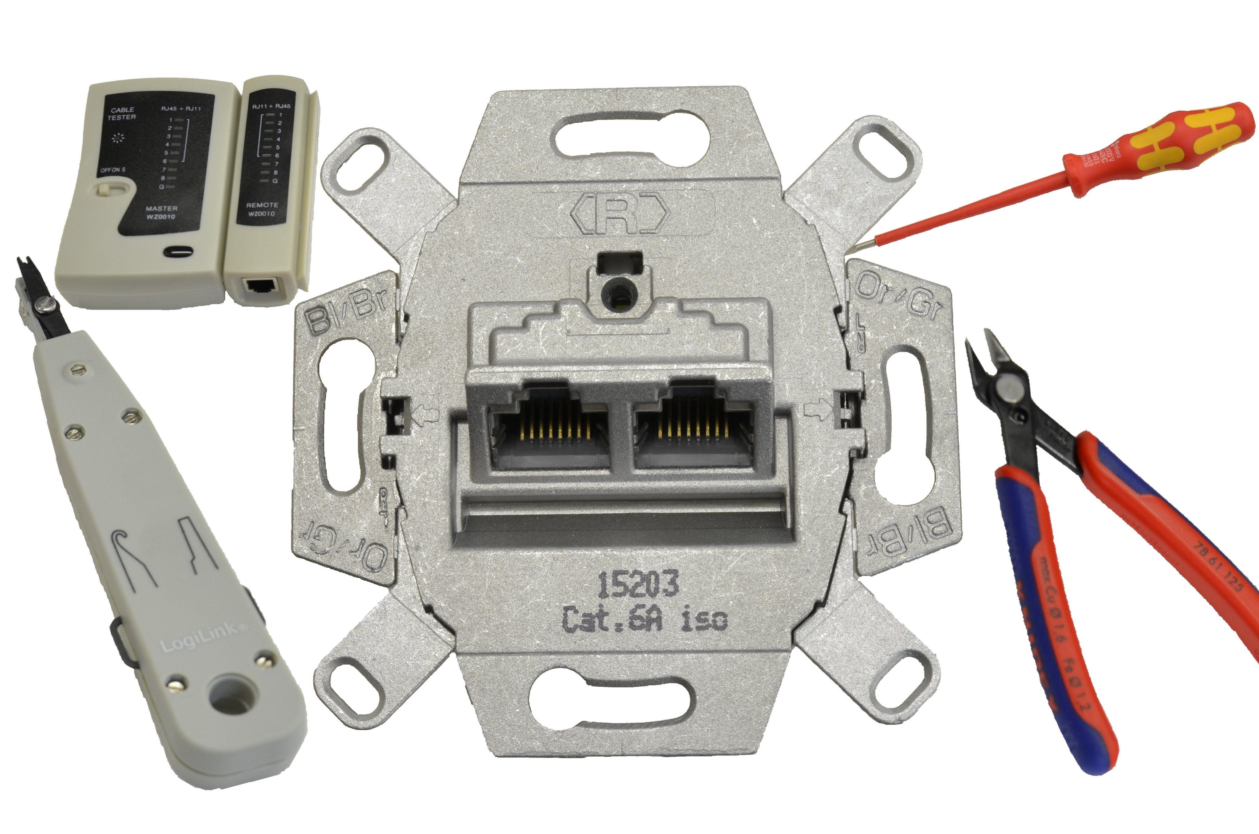 Netzwerkdose (UAE-Dose) anschließen /patchen - RJ45 - LAN-Dose ...