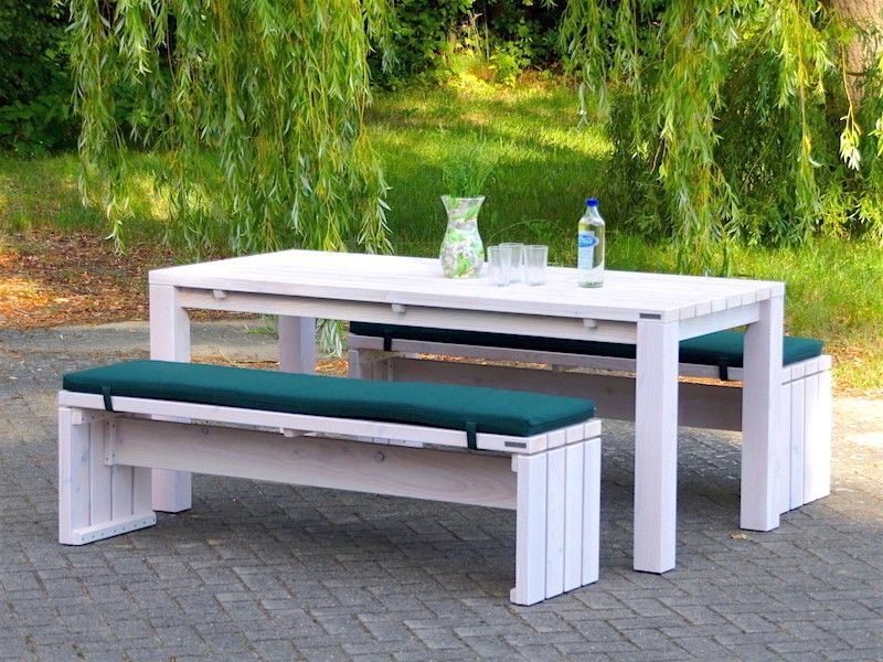Gartenmöbel Holz Set 3, Transparent Geölt Weiß - Made in Germany ...