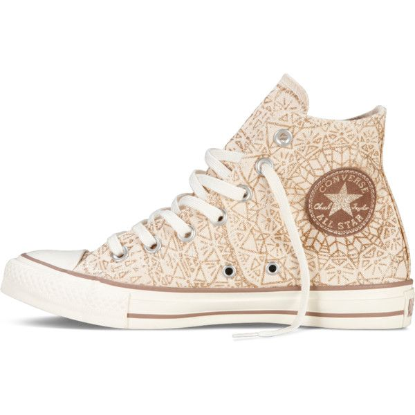 Converse Chuck Taylor Snowflake Sparkle – gold Sneakers (125 BRL) ❤ liked on Polyvore featuring shoes, sneakers, converse, converse shoes, sparkle sneakers, star sneakers, glitter trainers and gold glitter sneakers