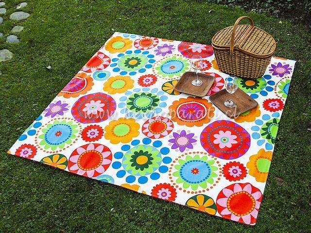 Manta de flores para picnic 25 990 hecho para ti pinterest - Manta de picnic ...
