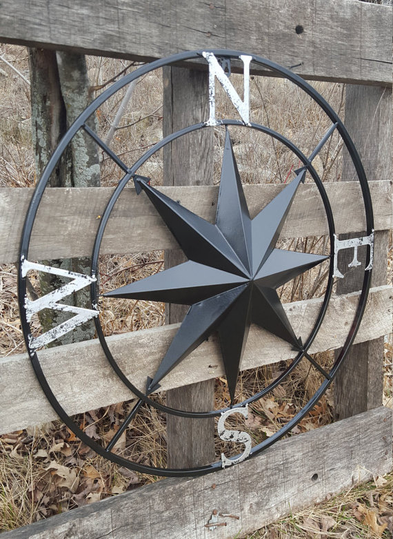 Nautical Compass Wall Art Nautical Decor By Shabbyusacreations
