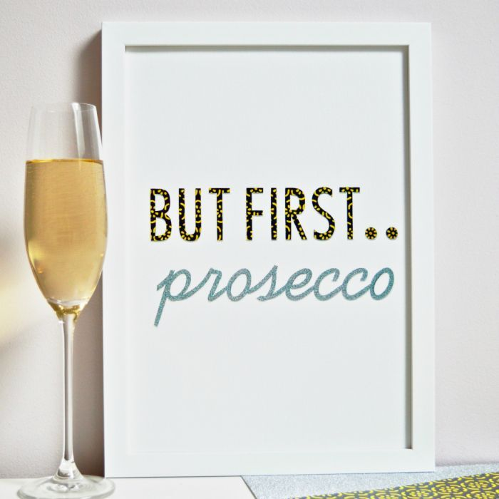 Time for Prosecco! For this design & other gorgeous artwork take a look at our talented new designer Outshine Art