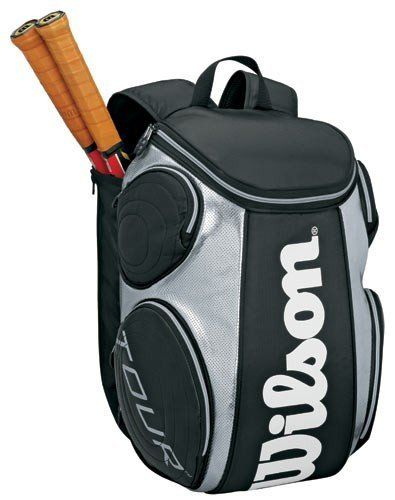 Wilson Tour Backpack Tennis Racquet Bag Black Silver By Wilson 54 95 Designed For Wilson Pro Players Ideal Tennis Backpack Tennis Bags Wilson Tennis Bags
