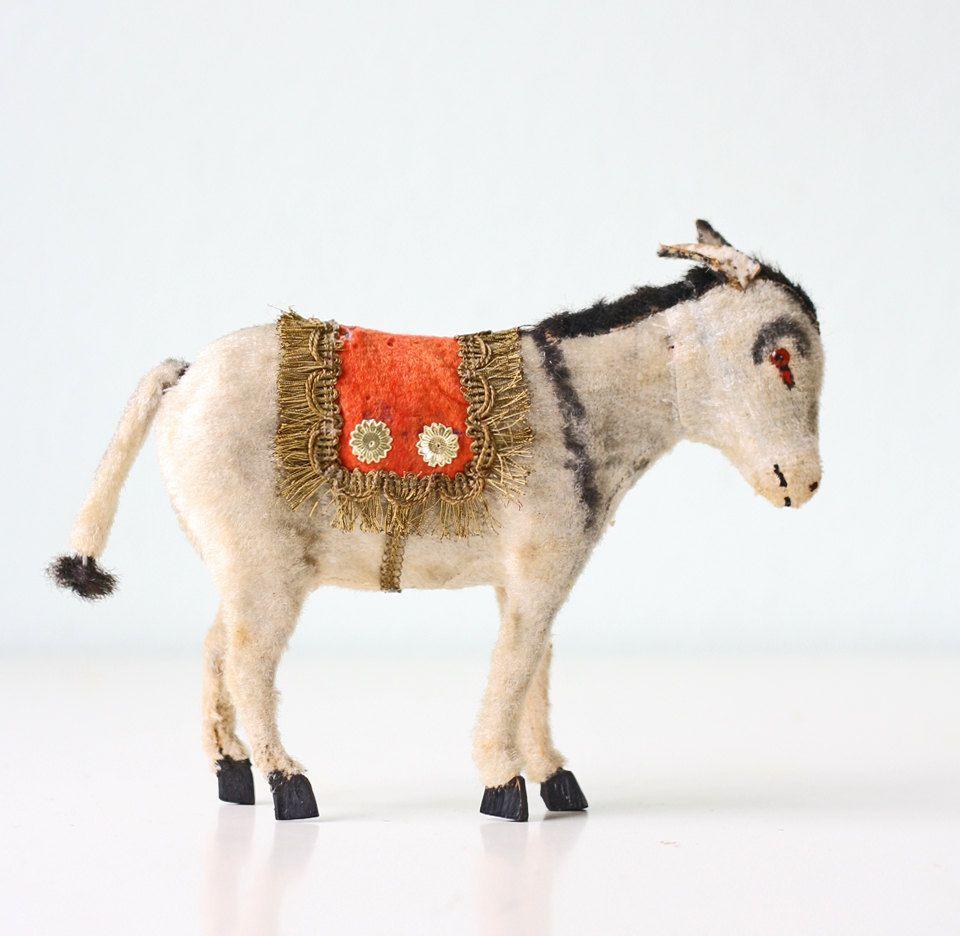 Vintage Putz Donkey. Repinned by www.mygrowingtraditions.com | Putz ...
