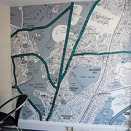 Street Map Wallpaper in any colors you want.