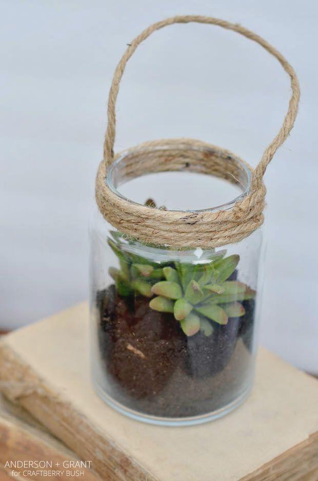 DIY glass lanterns #succulentterrarium