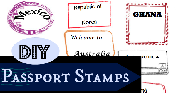 Editable Passport Stamps Template  Rebe With A Clause  Vbs Ideas