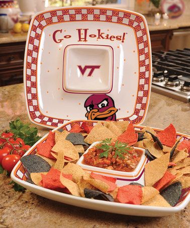The Memory Company Virginia Tech Hokies Square Serving Tray Square Tray Chip And Dip Bowl Chip And Dip Sets