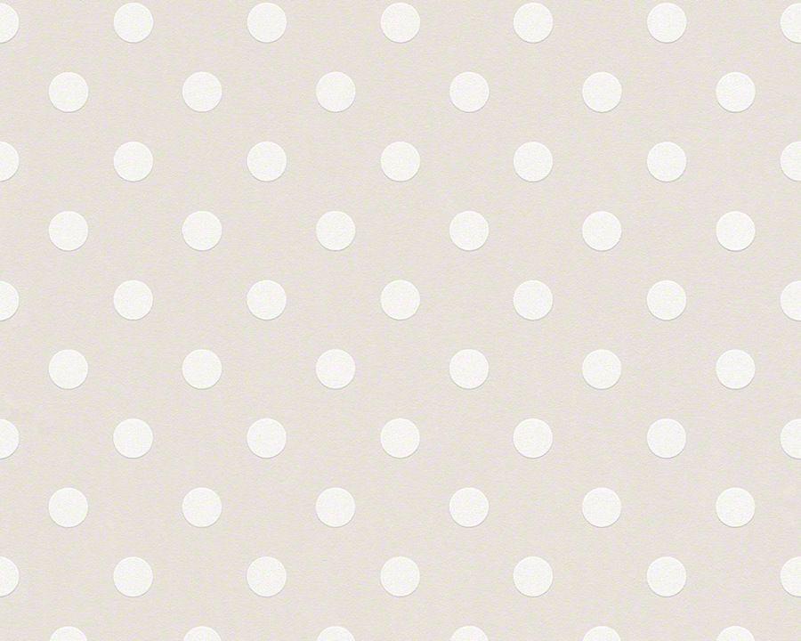 Gut A+S Naf Naf 95218 2 Tapete Vlies Punkte Retro Struktur Creme Beige (