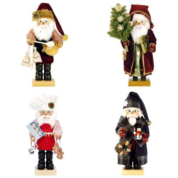 père  Noël en bois original - des figurines décoratives