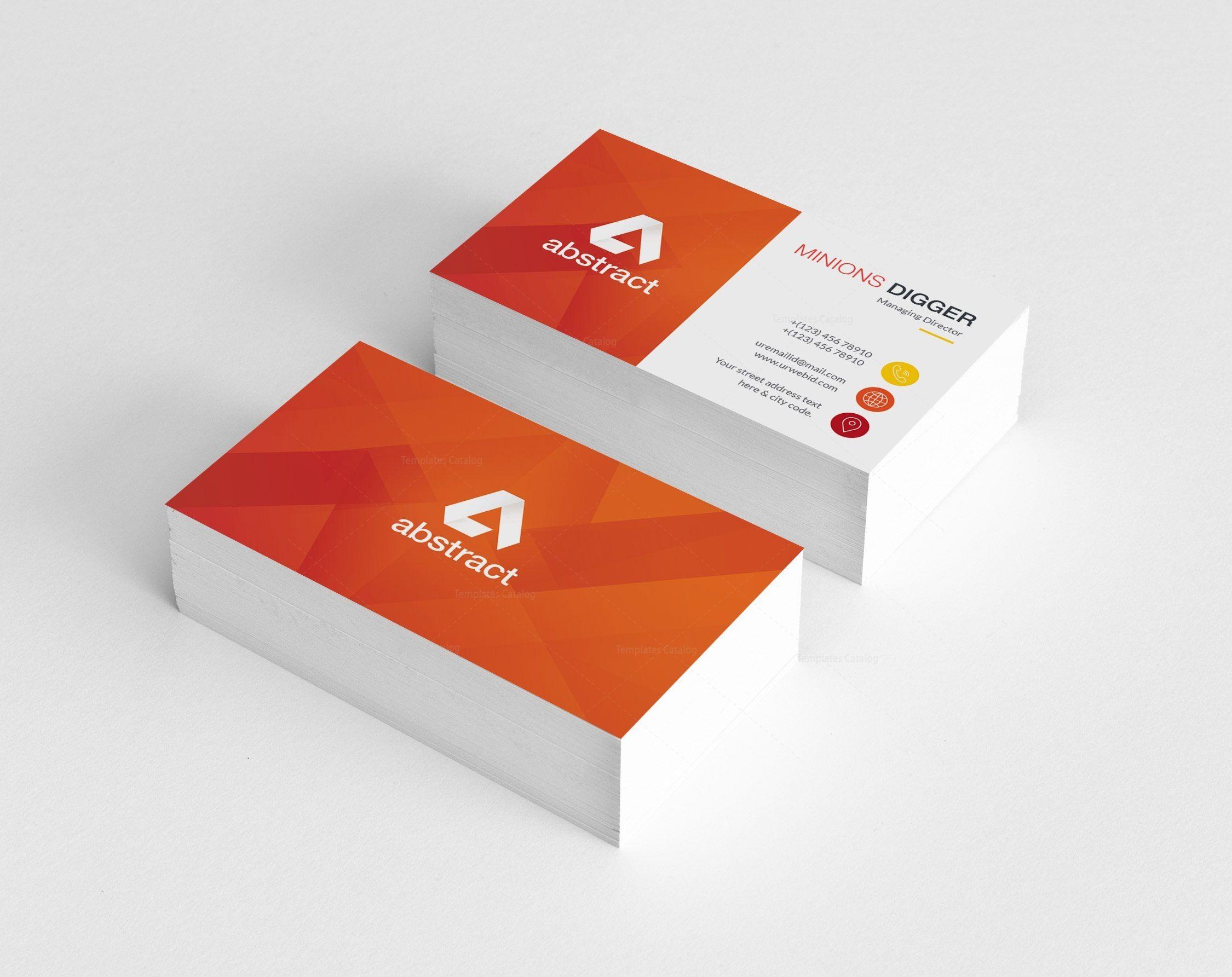 Orange Business Card Design 002425 Template Catalog Business Card Design Graphic Design Business Card Business Cards Creative